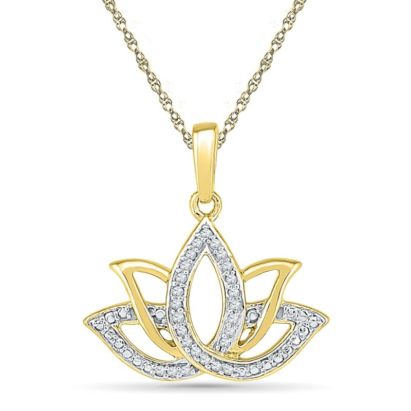 Buy Sri Jagdamba Pearls Lotus Diamond Shape Pendant Code Pf020734 online