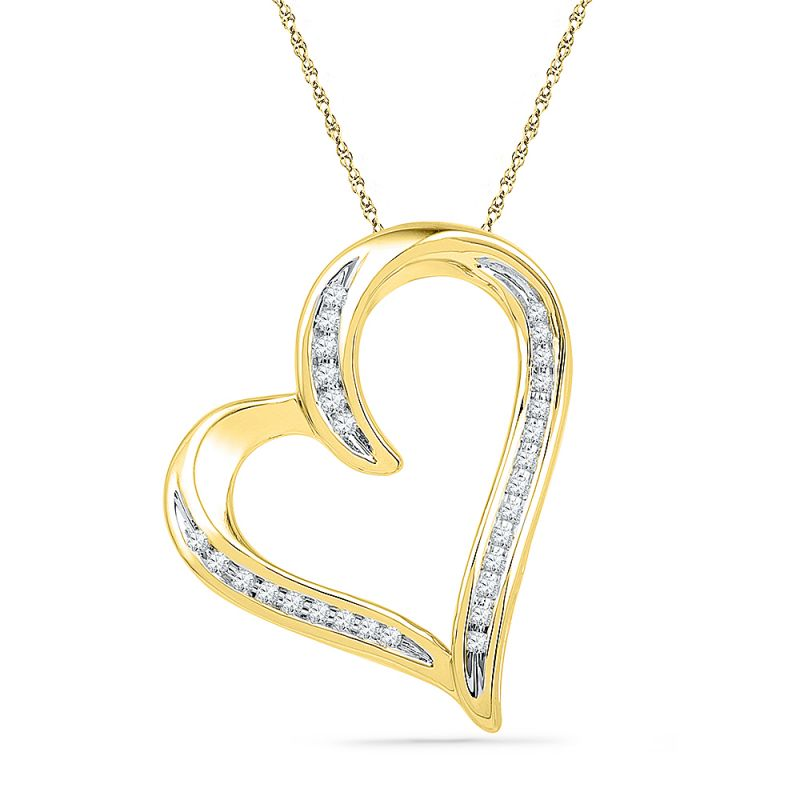 Buy Jpearls 18 Kt Gold Humble Heart Diamond Pendant online