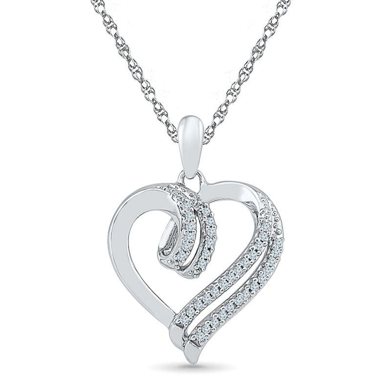Buy Sri Jagdamba Pearls Lovely Heart Diamond Pendant-ph072399 online