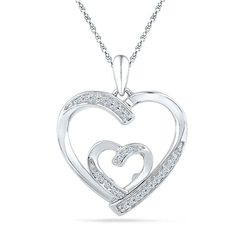Buy Sri Jagdamba Pearls Loveknot Diamond Pendant-ph073097 online