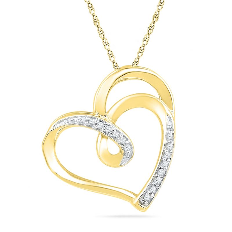 Buy Jpearls Love Design Diamond Pendant online