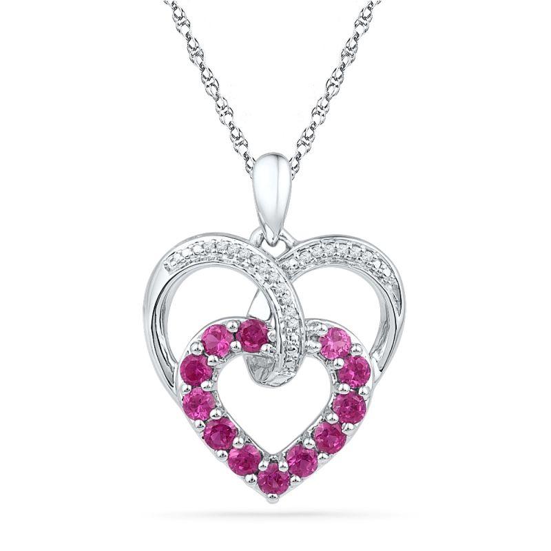 Buy Jpearls 925 Sterling Silver Majestic Hearts Diamond Pendant online