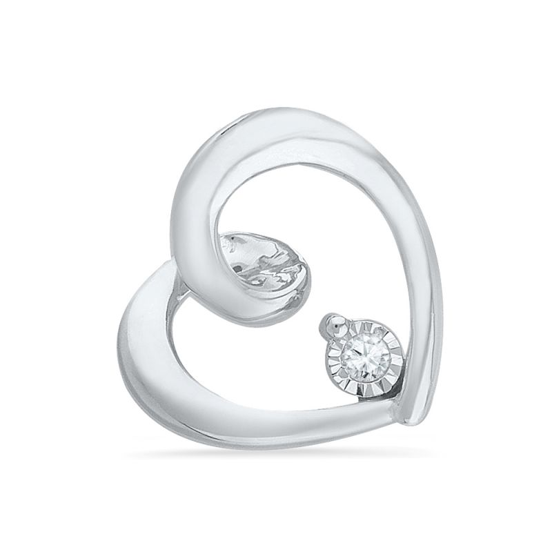 Buy Jpearls Valentines Day Special Heart Shaped Diamond Pendant online