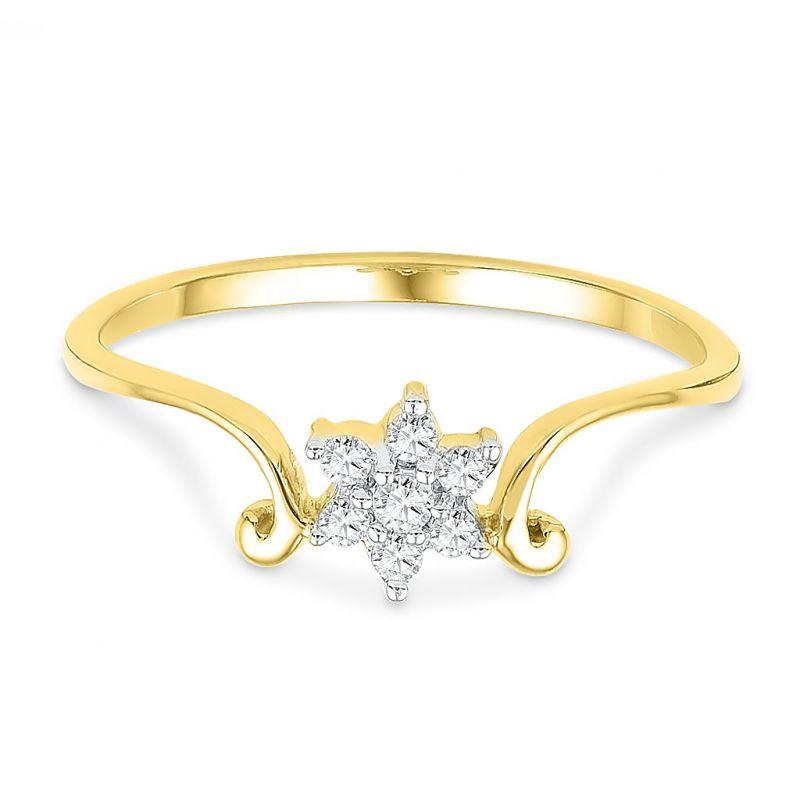 Buy Jpearls 18kt Dezire Diamond Finger Ring Online | Best Prices in ...