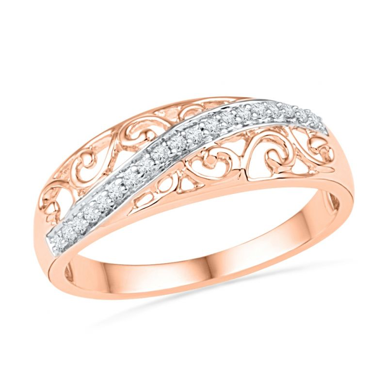 Buy Jpearls Designer Rose Gold Finger Ring Online | Best Prices in ...
