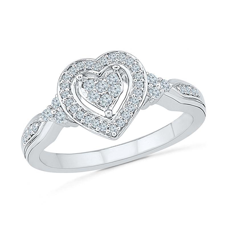 Buy Sri Jagdamba Pearls 18kt Dual Heart Diamond Ring-rh076274 online