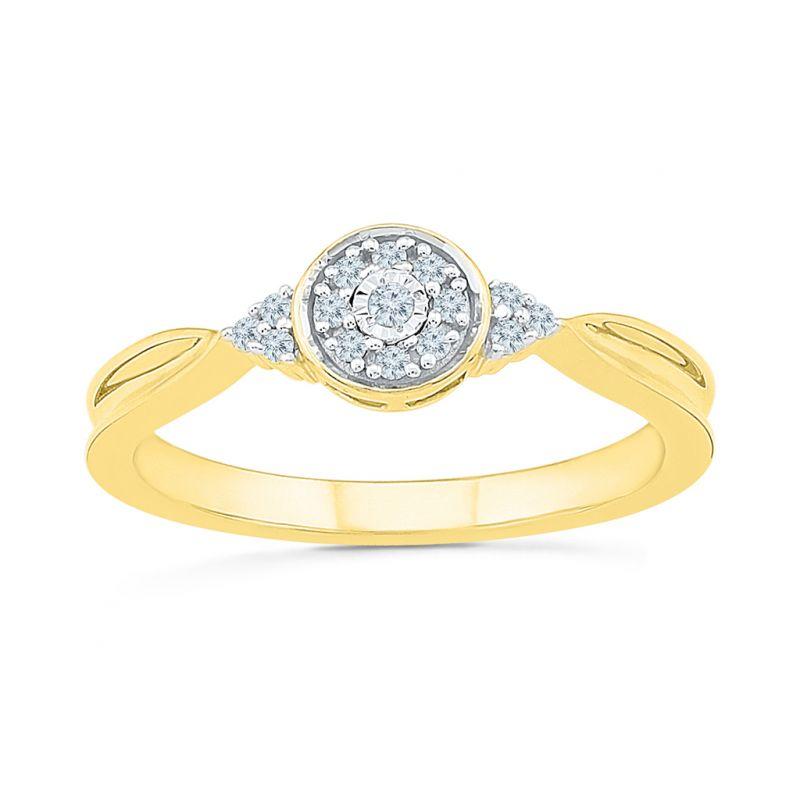 Buy Sri Jagdamba Pearls 0.10 Carat Diamond Finger Ring-rp023729 online