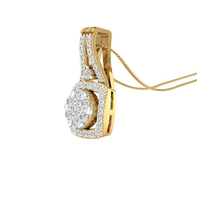 Buy Sri Jagdamba Pearls 18 Kt Gold 0.412 Carat Stafy Diamond Pendant-sdls14748 online