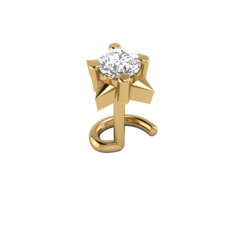 Buy Sri Jagdamba Pearls Joyful Diamond Nose Pin-vanp 1034 online