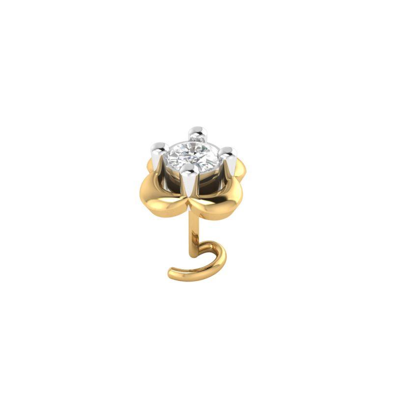Buy Sri Jagdamba Pearls Blossomed Diamond Nose Pin-vanp 1042 online