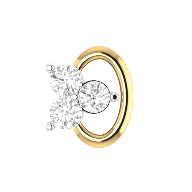 Buy Sri Jagdamba Pearls Eye Catching Diamond Nose Pin-vanp 1053 online