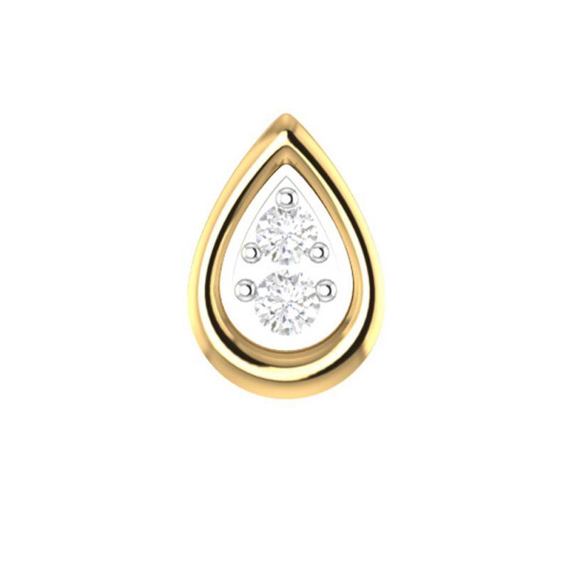 Buy Sri Jagdamba Pearls Honey Diamond Nose Pin-vanp 1058 online