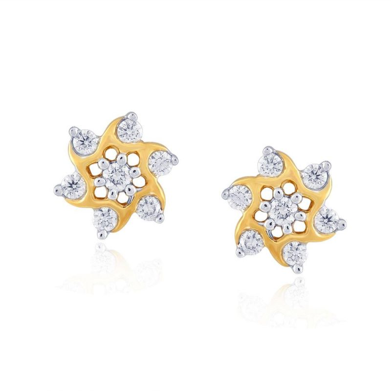 Buy Nakshatra Yellow Gold Diamond Earrings Nera034bsi-jk18y online