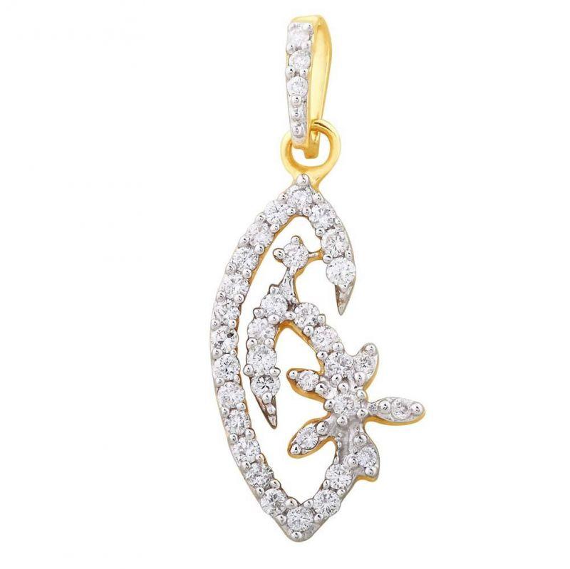 Buy Shuddhi Yellow Gold Diamond Pendant Ydp00052si-jk18y online