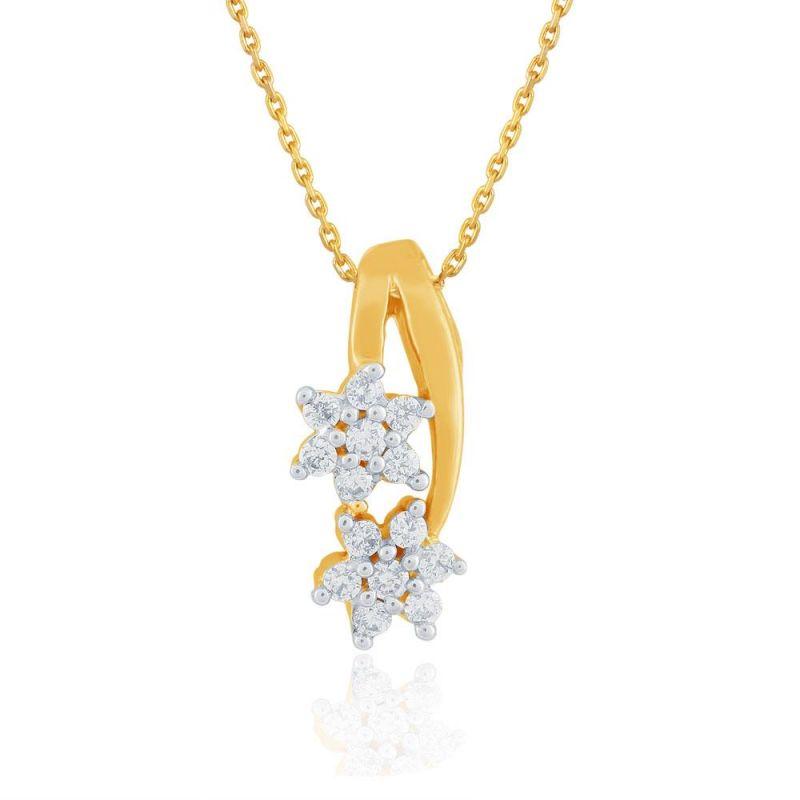 Buy Nakshatra Yellow Gold Diamond Pendant Ddp00168si-jk18y online