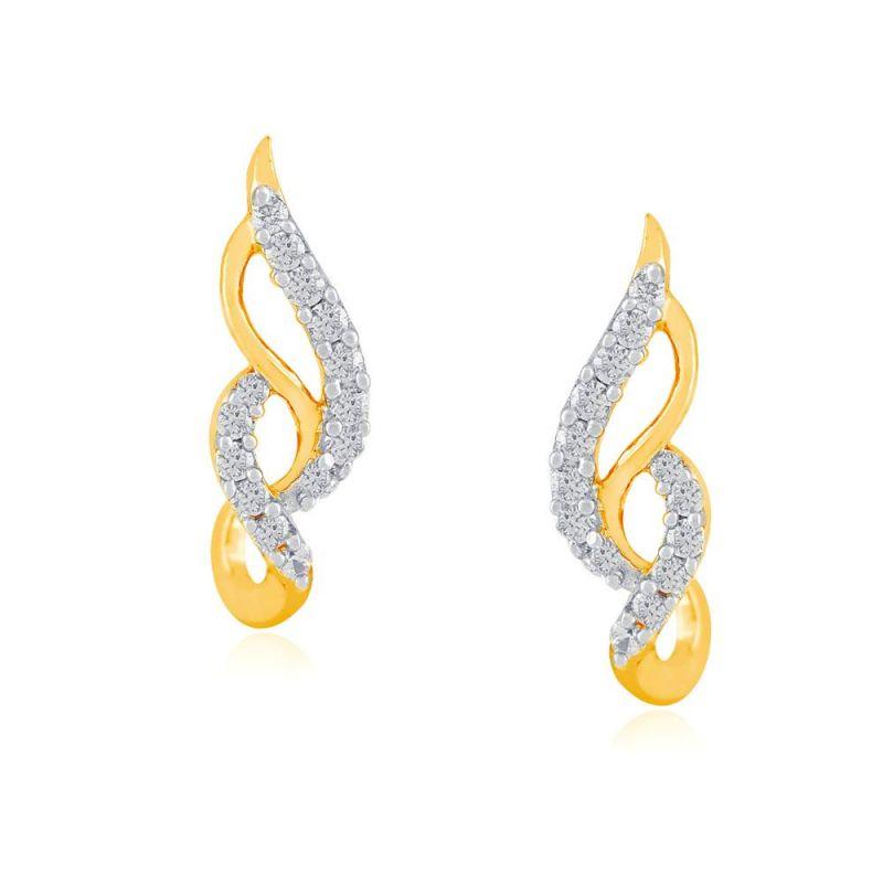 Buy Asmi Yellow Gold Diamond Earrings Yem191si-jk18y online