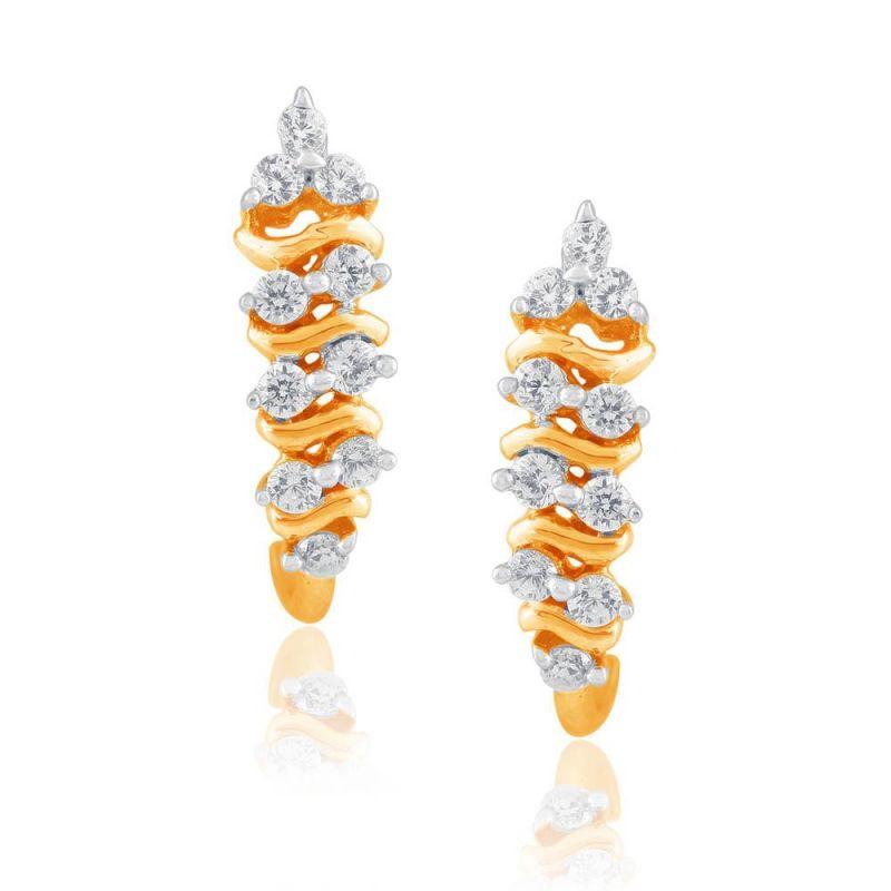 Buy Asmi Yellow Gold Diamond Earrings Ye196si-jk18y online