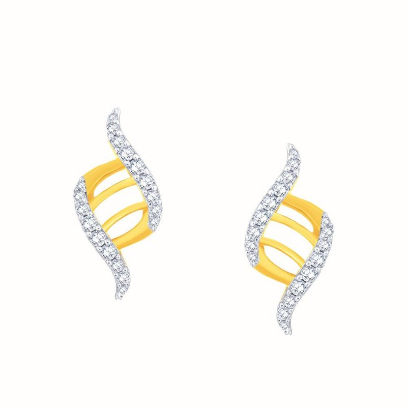 Buy Gili Yellow Gold Diamond Earrings Oe679si-jk18y online
