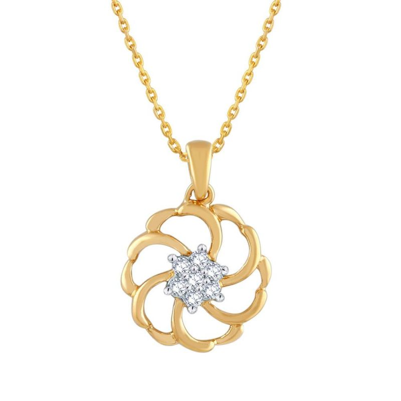 Buy Shuddhi Yellow Gold Diamond Pendant Pp10720si-jk18y online