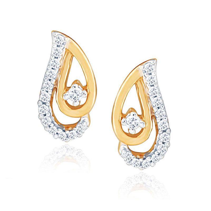 Buy Asmi Yellow Gold Diamond Earrings Pra1e3960si-jk18y online