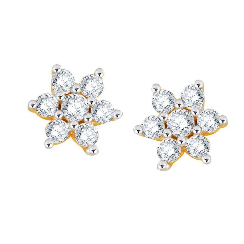 Buy Nakshatra Yellow Gold Diamond Earrings Pe17554si-jk18y online