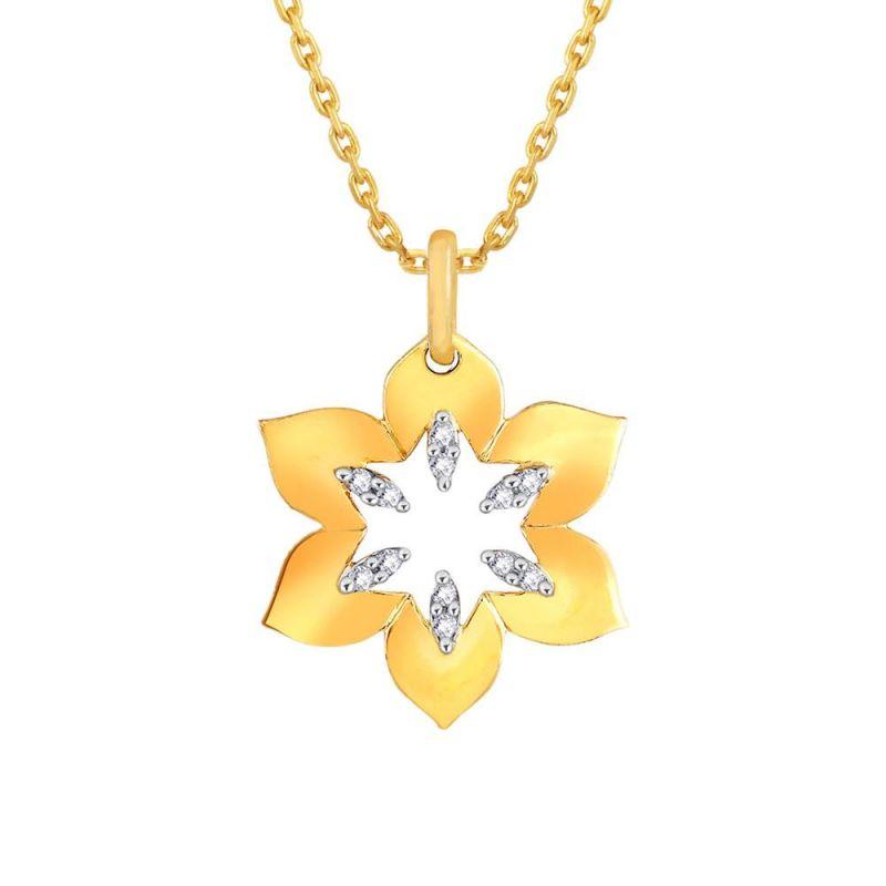 Buy Asmi Yellow Gold Diamond Pendant Pra2p3785si-jk18y online