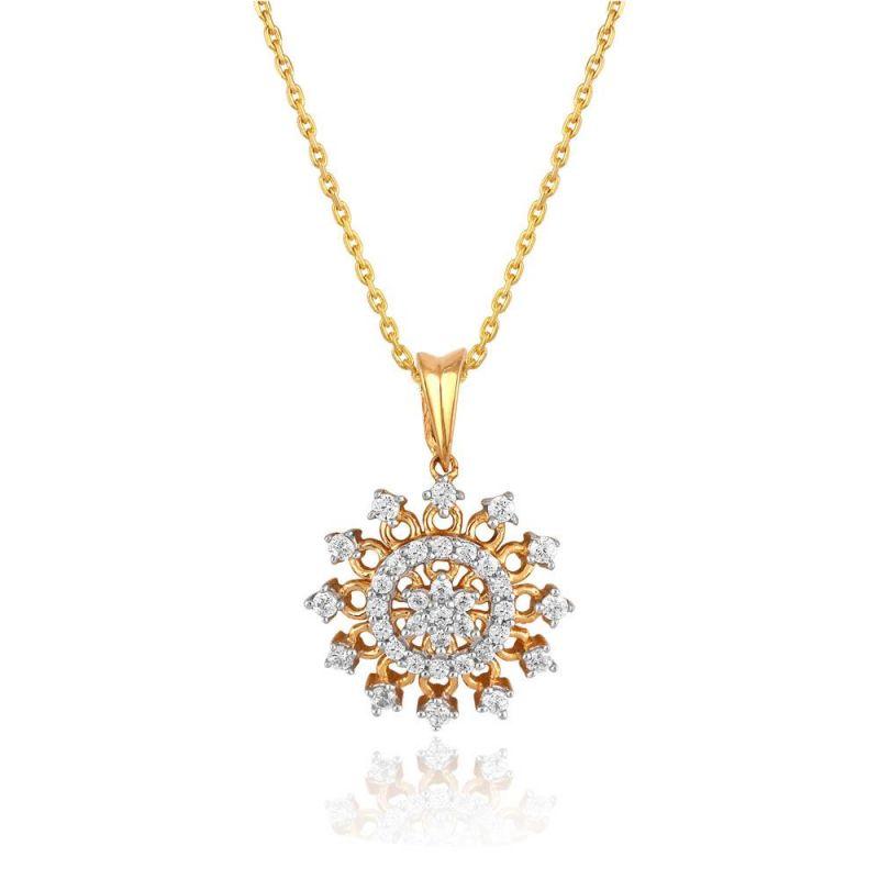 Buy Maya Diamond Yellow Gold Diamond Pendant Pp20655si-jk18y online