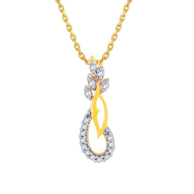 Buy Asmi Yellow Gold Diamond Pendant Pp17610si-jk18y online