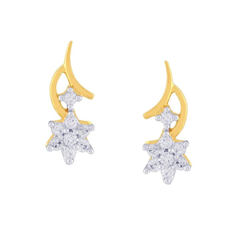 Buy Nakshatra Yellow Gold Diamond Earrings Fe149si-jk18y online