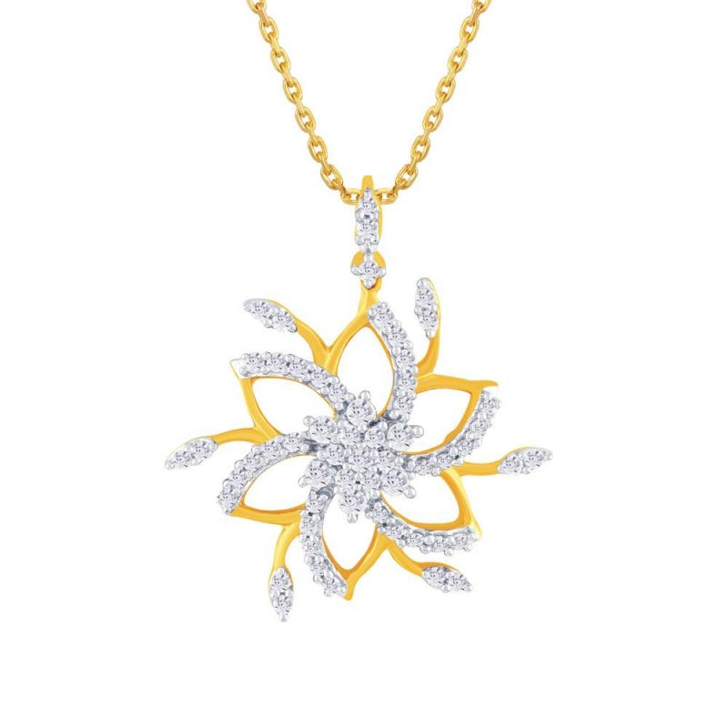 Buy Nakshatra Yellow Gold Diamond Pendant Pp15497si-jk18y online