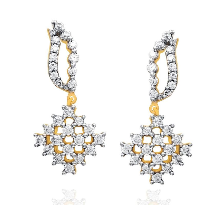 Buy Sangini Yellow Gold Diamond Earrings Oe377si-jk18y online