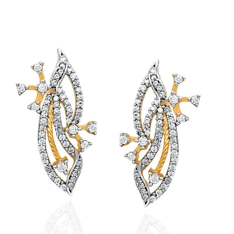Buy Sangini Yellow Gold Diamond Earrings Oe432si-jk18y online