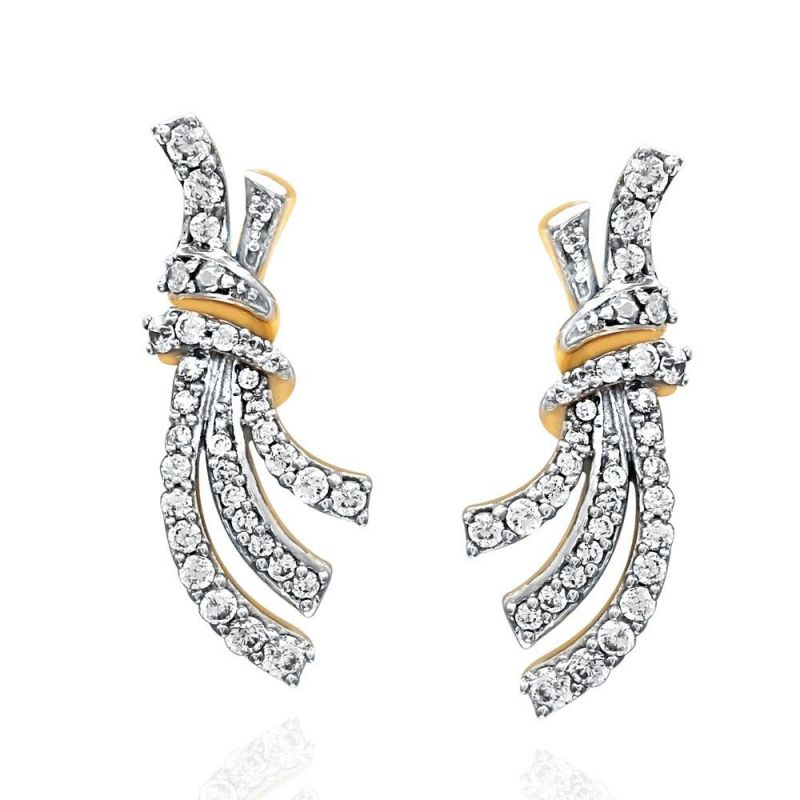 Buy Sangini Yellow Gold Diamond Earrings Oe450si-jk18y online