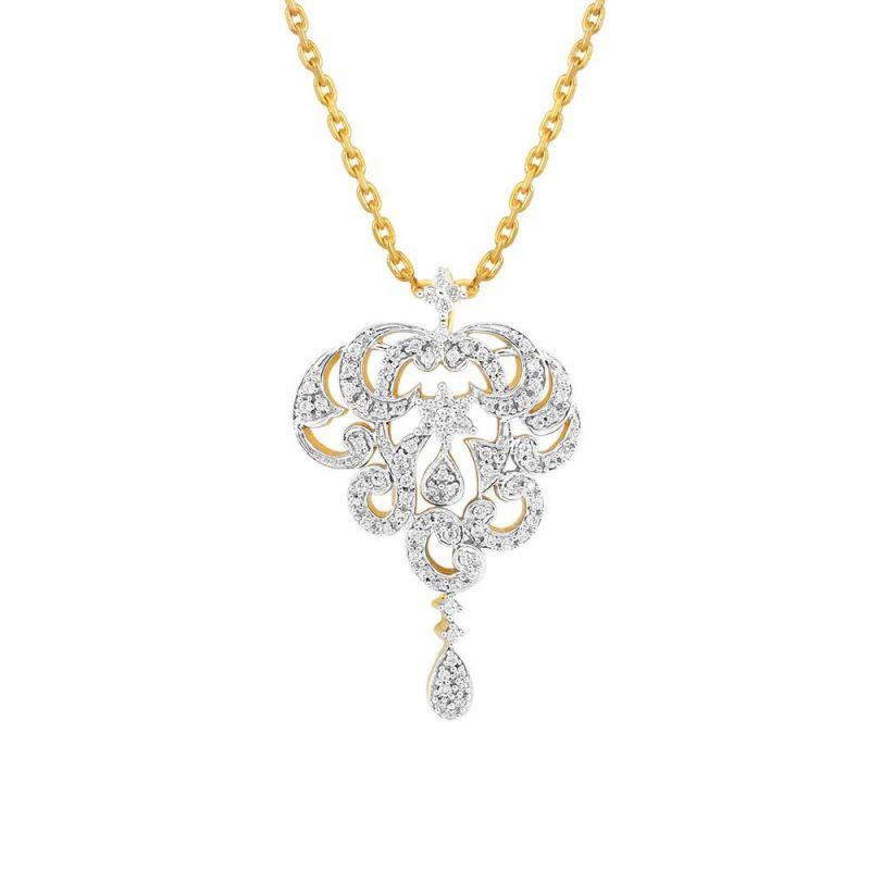Buy Nakshatra Yellow Gold Diamond Pendant Npc110si-jk18y online