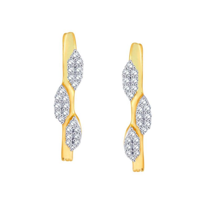 Buy Asmi Yellow Gold Diamond Earrings Ue040si-jk18y online