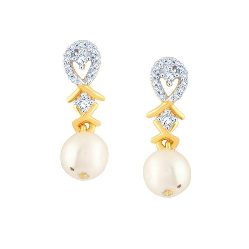 Buy Asmi Yellow Gold Diamond Earrings Baep286si-jk18y online