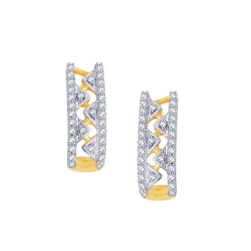 Buy Gili Yellow Gold Diamond Earrings De141si-jk18y online