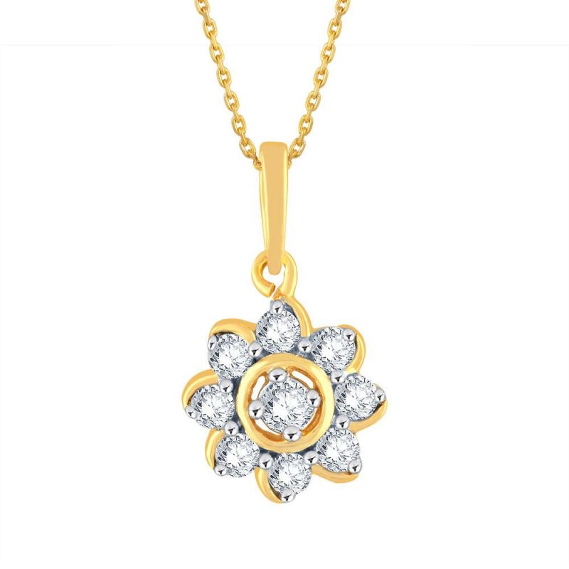 Buy Me-Solitaire Yellow Gold Diamond Pendant online