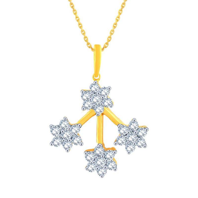 Buy Nakshatra Yellow Gold Diamond Pendant Ap034si-jk18y online