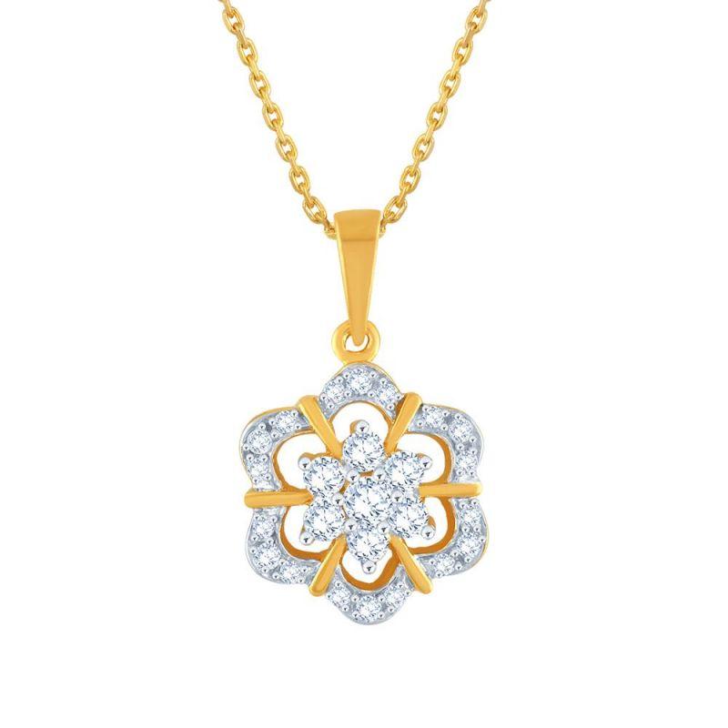Buy Nakshatra Yellow Gold Diamond Pendant Ap577si-jk18y online