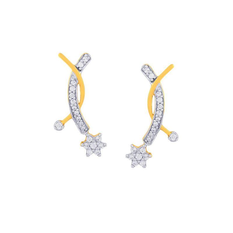 Buy Nakshatra Yellow Gold Diamond Earrings online