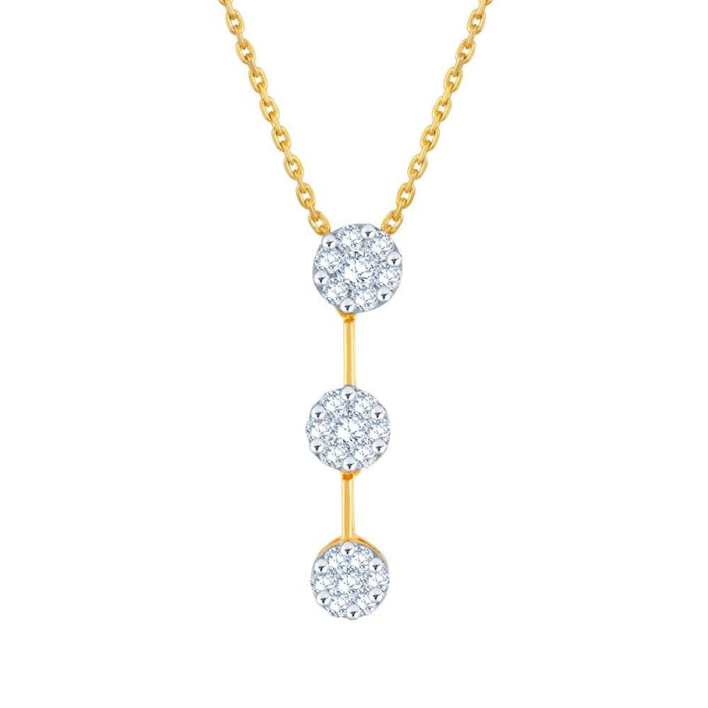Buy Nirvana Yellow Gold Diamond Pendant Ip658si-jk18y online