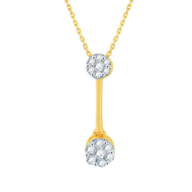 Buy Nirvana Yellow Gold Diamond Pendant Ip347si-jk18y online
