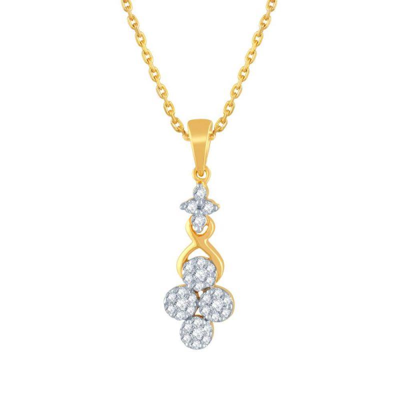 Buy Nirvana Yellow Gold Diamond Pendant Ip561si-jk18y online