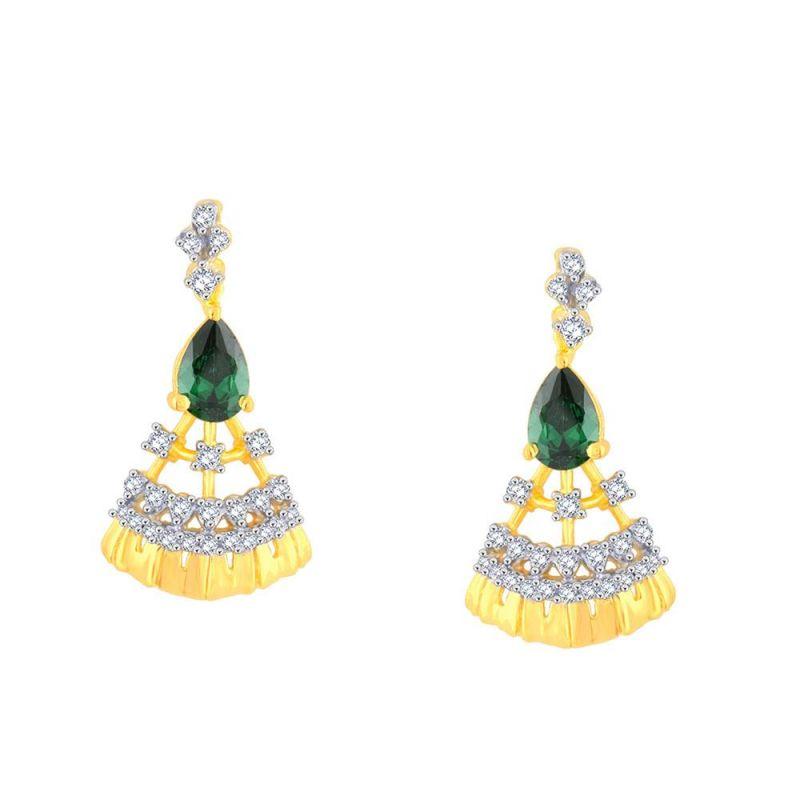 Buy Parineeta Yellow Gold Diamond Earrings Baep010si-jk18y online