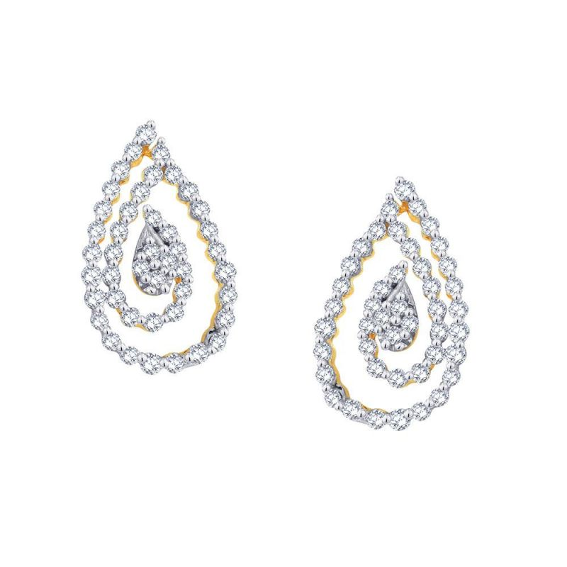 Buy Sangini Yellow Gold Diamond Earrings online