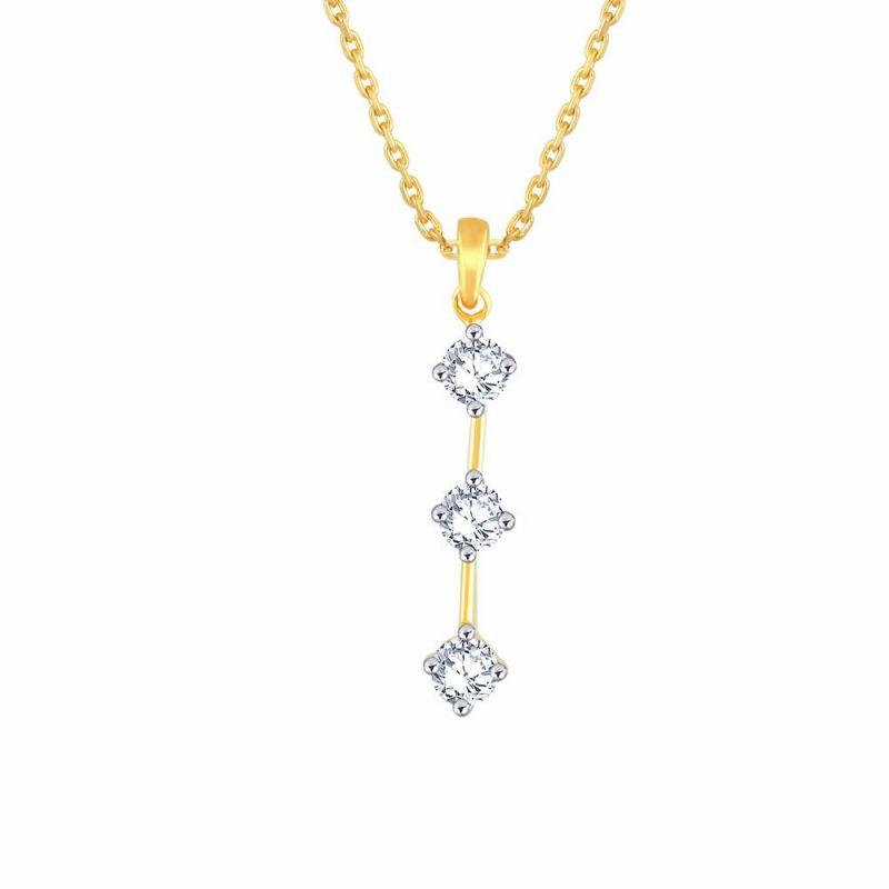 Buy Me-Solitaire Yellow Gold Diamond Pendant online