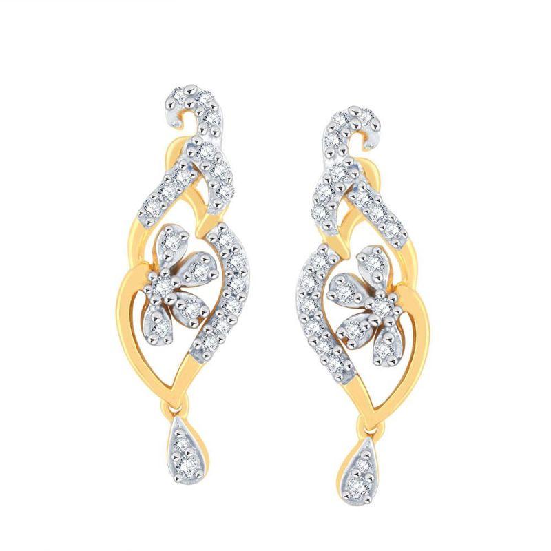 Buy Sangini Yellow Gold Diamond Earrings Pe18146si-jk18y online