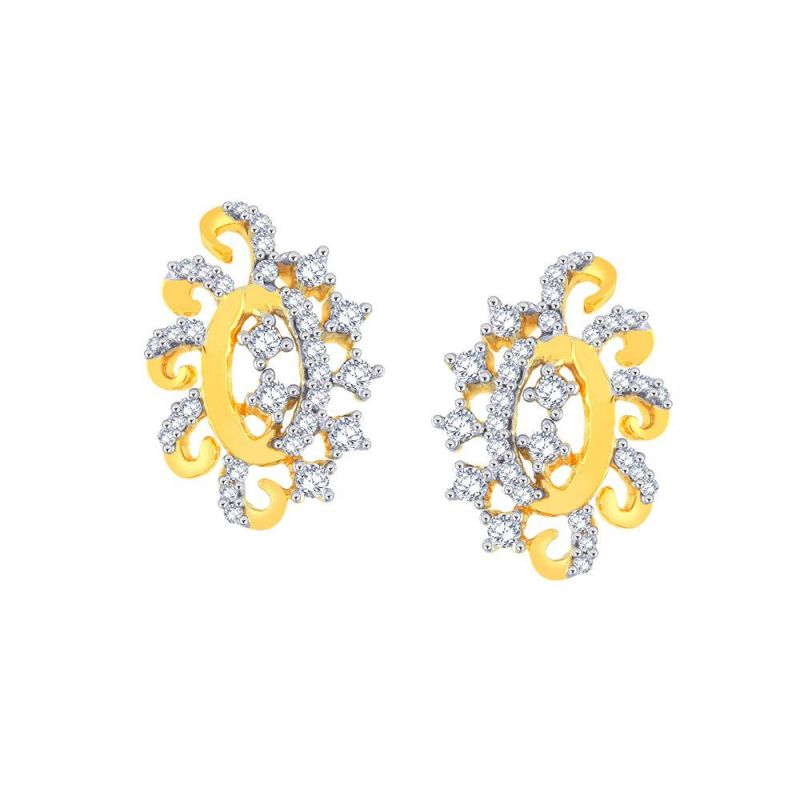 Buy Sangini Yellow Gold Diamond Earrings Aaep633si-jk18y online