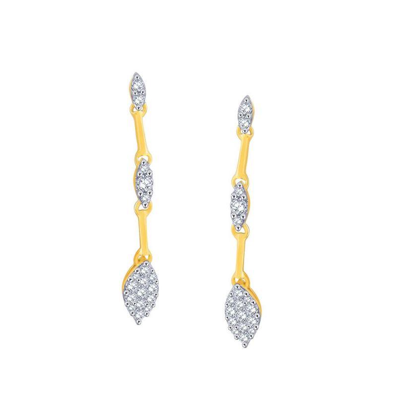 Buy Nirvana Yellow Gold Diamond Earrings Ie675si-jk18y online